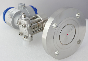 Fuji pressure transmitter for level applications with a flange diaphragm seal
